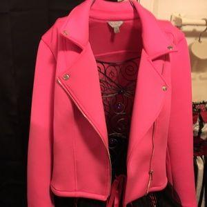 Jackets & Blazers - Pinky Pink Coats Baby Pink to Black. Owl Glow Bra